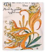 When Lilies Turned To Tiger Blaze Fleece Blanket