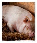 When Pigs Fly Fleece Blanket