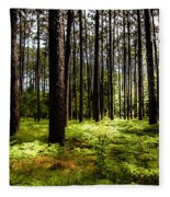 When The Forest Beckons Fleece Blanket