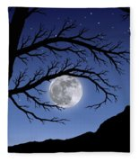 When The Moon Hits Your Eye Fleece Blanket