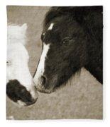 When We Touch Fleece Blanket