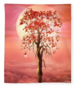 Where Angels Bloom Fleece Blanket