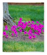 Where Petunia Grows Fleece Blanket