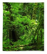 Where The Forest People Live Revised Fleece Blanket
