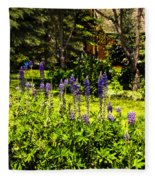 Where The Lupines Grow Fleece Blanket