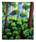 Where The Path Leads Fleece Blanket