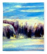 Where The River Flows Fleece Blanket
