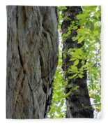 Where The Tree Meets The Stone Fleece Blanket