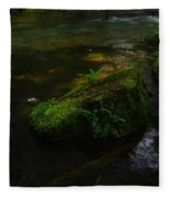 Where The Water Is As Slow As Tranquility Fleece Blanket