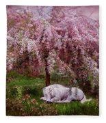 Where Unicorn's Dream Fleece Blanket