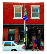 Wheres The Beef On Rue Notre Dame Joe Beef Resto Montreal Urban  Art Scene Carole Spandau Fleece Blanket
