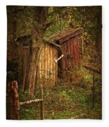 Which Way To The Outhouse? Fleece Blanket