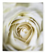 Whie Rose Softly Fleece Blanket