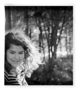While Walking Along A Path Fleece Blanket