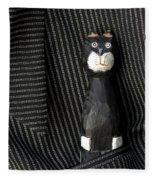 Whimsical Cat Fleece Blanket