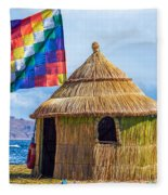 Whiphala Flag On Floating Island Fleece Blanket