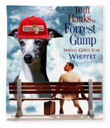 Whippet Art - Forrest Gump Movie Poster Fleece Blanket