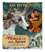 Whippet Art - The World In His Arms Movie Poster Fleece Blanket