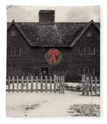 Whipple House Christmas Fleece Blanket