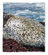 Whiskers And Spots Fleece Blanket