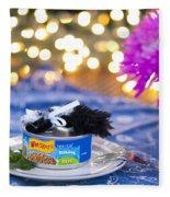 Whiskers Special Birthday Pate Fleece Blanket