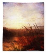Whispering Shores By M.a Fleece Blanket