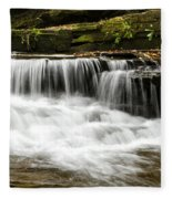 Whispering Waterfall Landscape Fleece Blanket