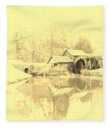 Whispers Of Mabry Mill Fleece Blanket