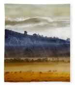 Whisps Of Velvet Rains... Fleece Blanket