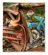 Whistler Train Wreck Stopping Point Fleece Blanket