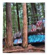 Whistler Train Wreckage In The Trees Fleece Blanket