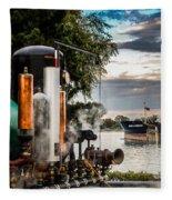 Whistles And Ship Fleece Blanket