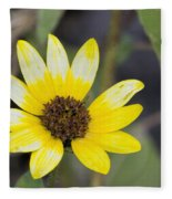 White And Yellow Sunflower Fleece Blanket