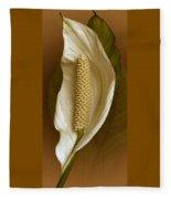 White Anthurium Flower Fleece Blanket
