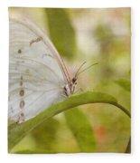 White Beauty Fleece Blanket
