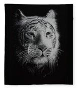 White Bengal Tiger Fleece Blanket