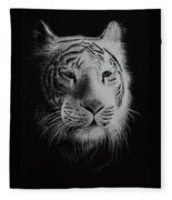 White Bengal Tiger Fleece Blanket
