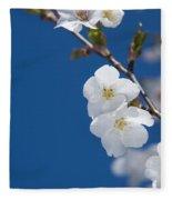 White Blossom Fleece Blanket