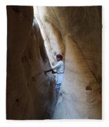 White Canyon Path Desert Sinai Egypt Fleece Blanket