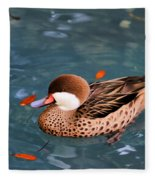 White-cheeked Pintail Fleece Blanket