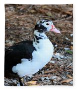 White Chested Muscovy Fleece Blanket