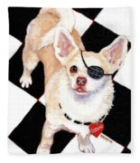 White Chihuahua - Pistachio Fleece Blanket