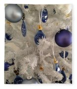 White Christmas Tree Fleece Blanket