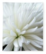 White Chrysanthemum Fleece Blanket
