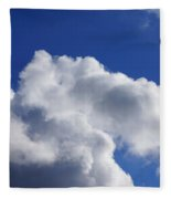 White Clouds Art Prints Blue Sky Fleece Blanket