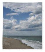 White Clouds Over The Ocean Fleece Blanket