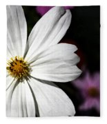 White Coreopsis Fleece Blanket