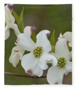 White Cross Flowers Fleece Blanket