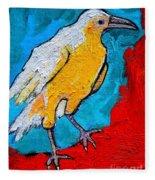 White Crow Fleece Blanket