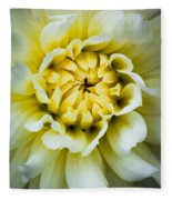 White Dahlia Fleece Blanket